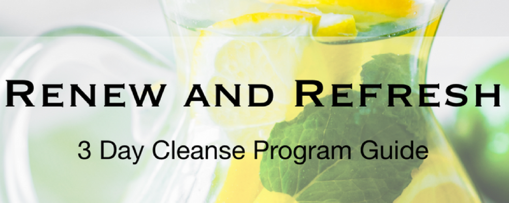 3 day cleanse banner