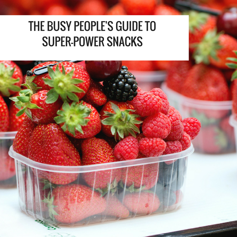 the busy people's guide to super power snacks