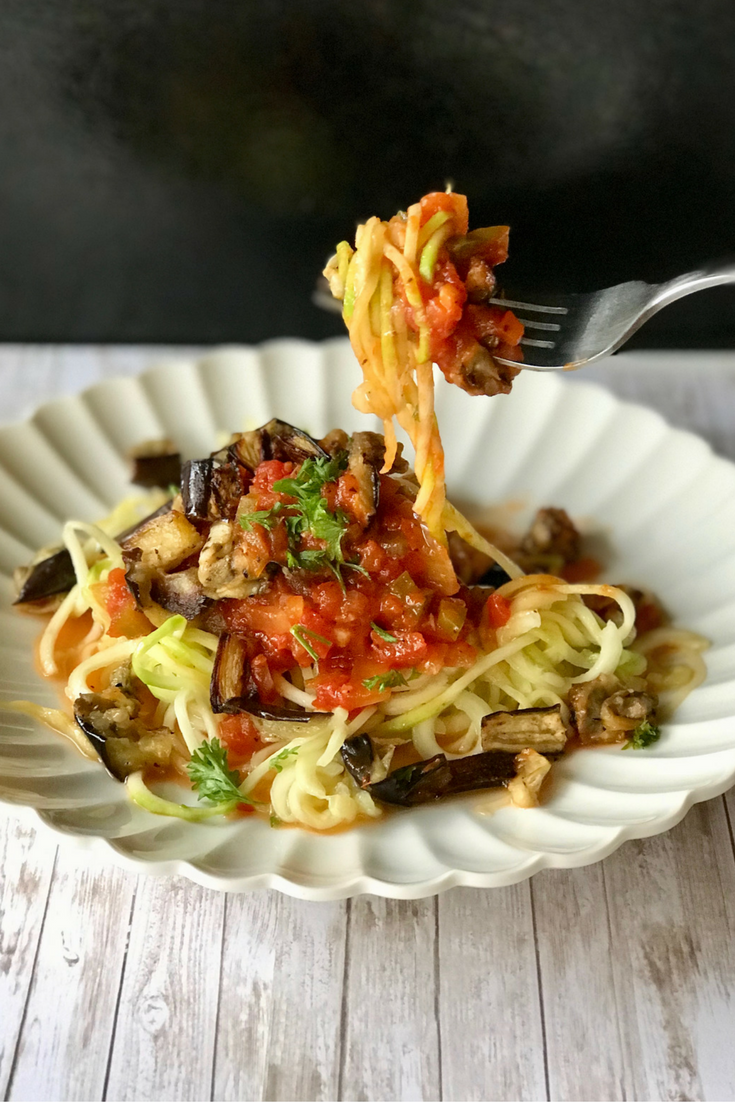 zoodles and roasted eggplant 3