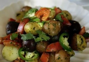 Tri color potatoes with cilantro vinaigrette 1