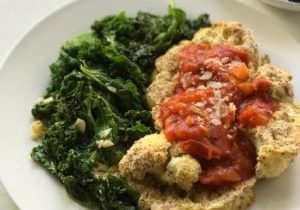 cauliflower steak and braised kale 4