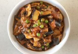 grilled eggplant and mushroom stew 4