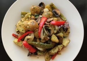 roasted vegetables and potatoes with balsamic vinaigrette 5