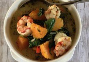 shrimp and squash soup 2
