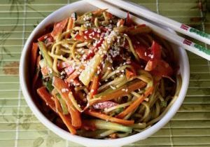 soba noodles with peanut sauce 4
