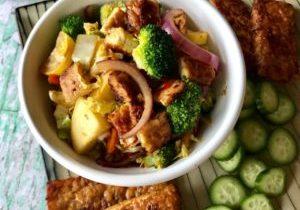 stir fry veggies and tempeh 4